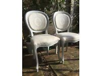 2 Chairs Painted Balloon Back
