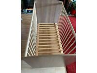 Baby cot bed with three different mattress height