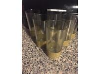 Set of glitter glasses