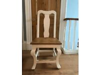 Great pine dining chairs x 5