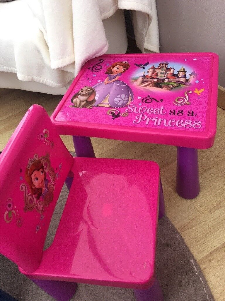Sofia The First Table And Chair Set | in Bishopbriggs, Glasgow | Gumtree