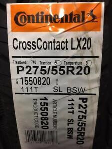 4 Brand New Continental Cross Contact LX 20 275/55R20 *** WallToWallTires.com ***