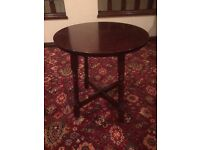 10 x Dark Wood Round Bar Tables