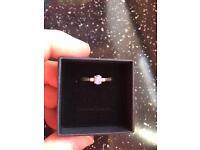 Beautiful white gold tanzanite & diamond dress ring size p