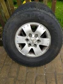 Mitsubishi shogun alloy wheels x4