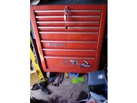 Snap on tool box roll cab red
