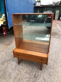 Mid Century Turnidge Large Teak Glazed Display cabinet