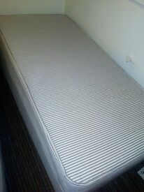Single bed sprung mattress with base Complete as new £40 collection only City Centre