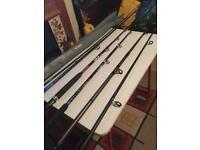 Several fishing rods for sale