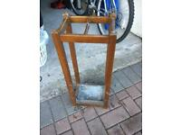 Vintage hard wood umbrella stand, dates from the 1920's.