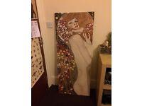Klimt printed canvas painting