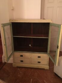 Vintage shabby chic large cabinet / dresser / cupboard from ABC Homes New York, industrial, loft