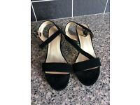 Stunning diamanté heeled ladies shoe size 5
