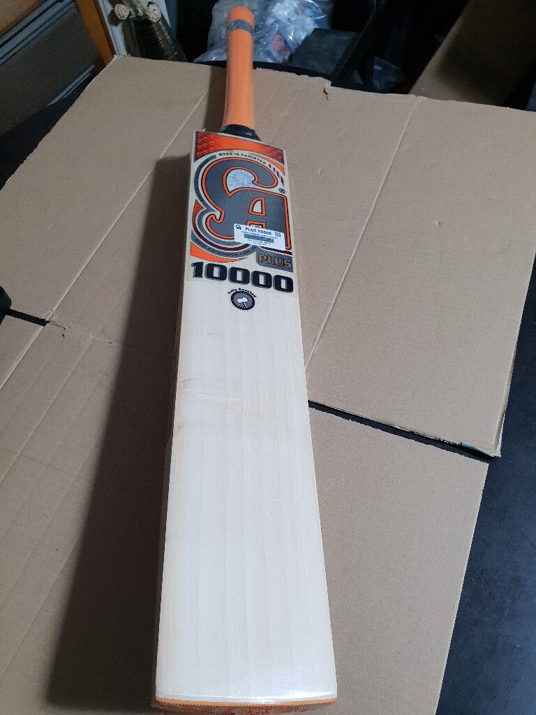 dfff0f10e CA PLUS 10000 CRICKET BAT GRADE A English Willow 7 Grains 40 mm Edge 2.8 lb