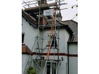 CHIMNEY STACK REMOVAL, BREAST REMOVAL, WITH SCAFFOLD AND CLEARANCE OF BRICKS