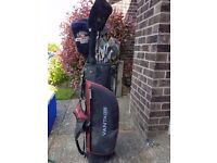 Vantage bag and clubs for sale