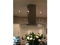 Stainless steel / glass extractor hood