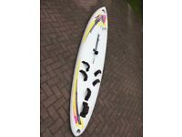 F2 Fun and Function Strato windsurfer and kit, including 2 sails, adjustable boom and split mast