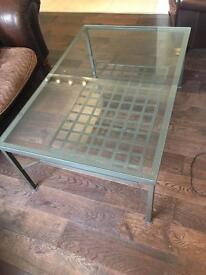STUNNING GLASS COFFEE TABLE
