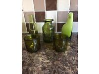 5 green glass