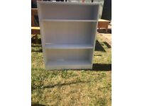Child's white bookcase