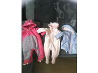 Pram, moses basket & baby coats