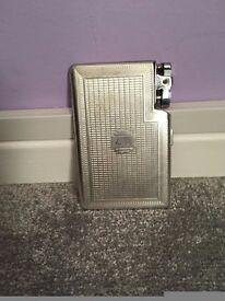 antique silver plated cigarette case