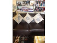 FOR SALE- 2 LEATHER SOFAS