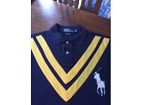 Polo by Ralph Lauren, men's blue polo shirt, medium