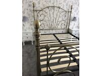 Double Bed Frame in antique brass finish £90