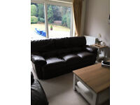 2 x Harvey's Leather Sofa (3 and 2 seater)