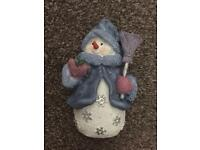 """Snow Woman Ornament. 5"""" approx."""