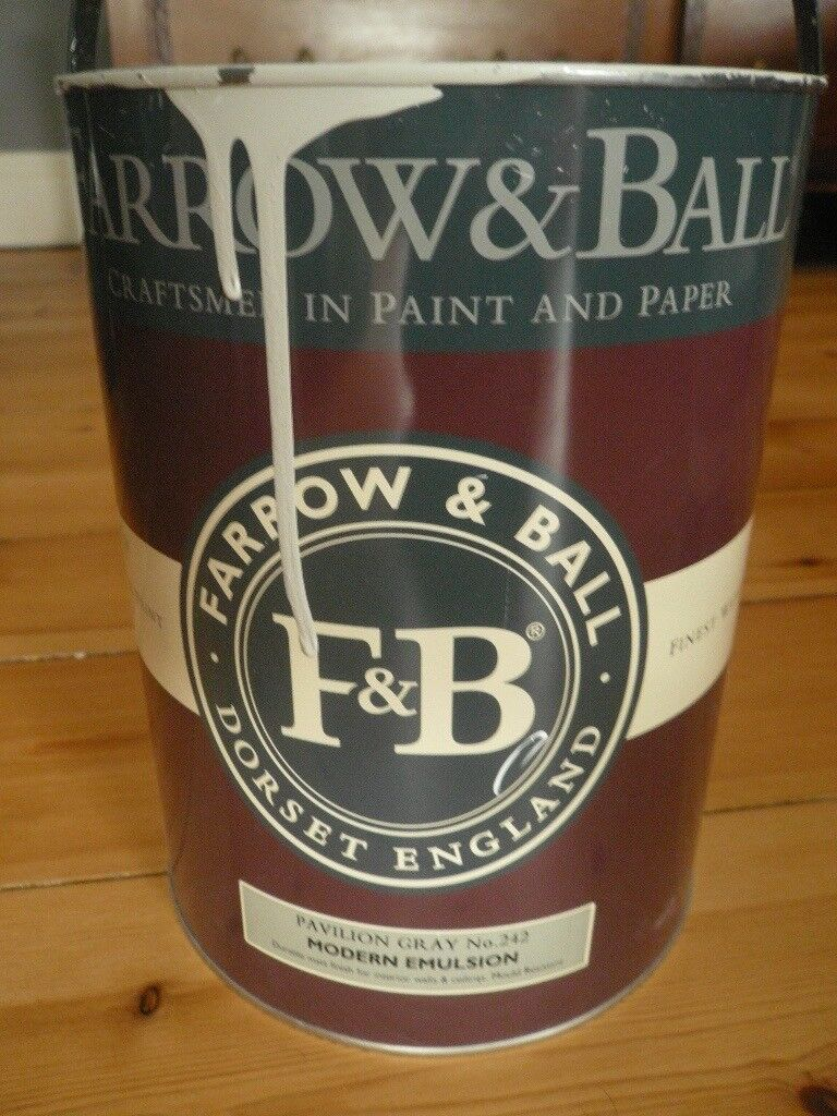 FARROW AND BALL PAINT MODERN EMULSION , PAVILLION GREY