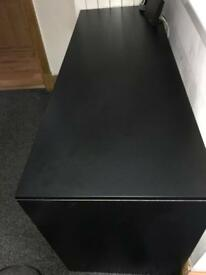 Black desk with Draws