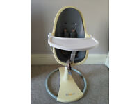 High Chair Cream Colour in good working condition
