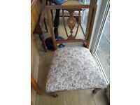 Victorian inlaid chair