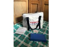 Tesco cooler bag with thermos icepack and instructions retro 97 new with tags picnic camping