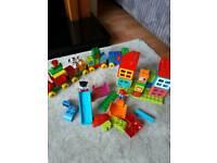 Train and house blocks