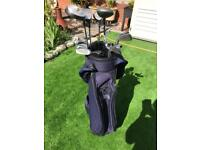 Old bag of golf clubs