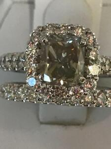 4.16TCW BIG DIAMOND ENGAGEMENT RING 1.91CT CENTRE DIAMOND + BAND 55% OFF NOW !!!!!!!!!!!!!