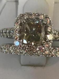 4.16TCW BIG DIAMOND ENGAGEMENT RING 1.91CT CENTRE DIAMOND + BAND 55% OFF NOW !!!!!!!!!!!!!