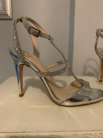 Silver Faith sparkle heels size 6