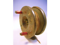 Vintage Wood & Brass Fly Fishing Reel (WH_0907)