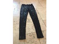 Next Sequin Leggings size 8 new