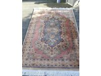 6x4 persian rug with tags over 30 years old perefect condition only £30