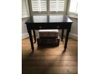 Black wooden desk hardly used , spare bedroom