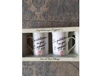 Engagement matching mugs
