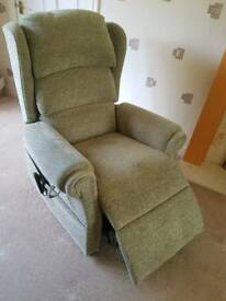 Electric Rise & Recline Arm chair in light green