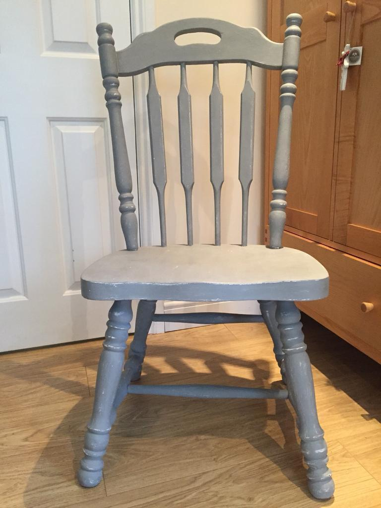 Farmhouse chair painted and waxed
