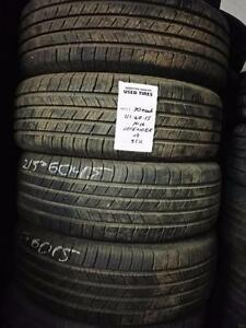 New and used winter and Allseason tires 195 65 15 / 205 65 15 / 215 60 15 / 215 70 15  in stock